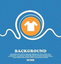 T-shirt icon sign Blue and white abstract vector image