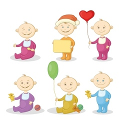 Cartoon children with toys vector image