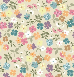 cute vintage ditsy background vector image vector image