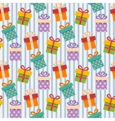 Gift box pattern vector image vector image