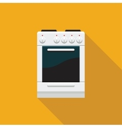A stove with an oven Flat icon vector image