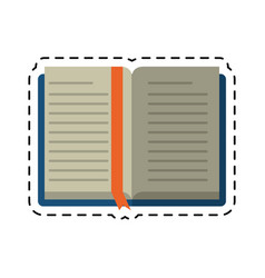 cartoon open book school learning library vector image