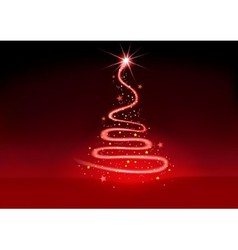 Christmas Glowing Spiral vector image vector image