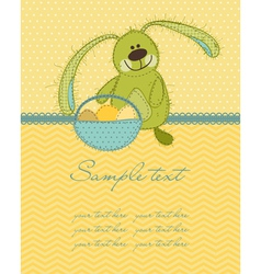 cute easter bunny card vector image vector image