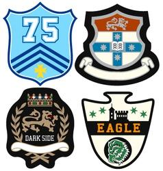 emblem badge set vector image vector image