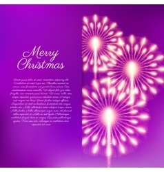 Merry Christmas fireworks vector image