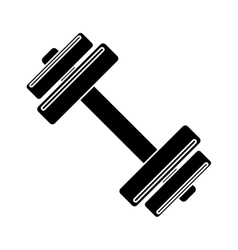 pictogram barbell fitness gym icon design vector image