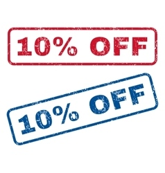10 Percent Off Rubber Stamps vector