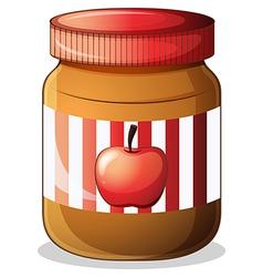 A bottle of apple jam vector