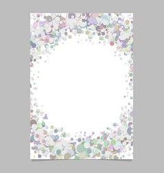 Abstract blank dispersed confetti circle flyer vector