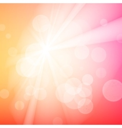 Abstract bokeh sparkles on blurred background vector