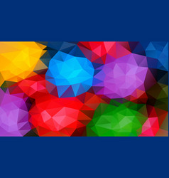 Abstract irregular polygon background varigated vector