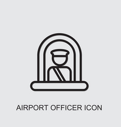 Airport officer icon vector