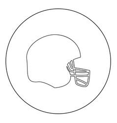 American football helmet icon black color in vector