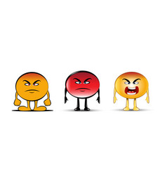 Angry emoji collection vector