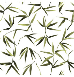 Bamboo chaotic seamless pattern on white vector