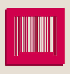 Bar code sign grayscale version of popart vector