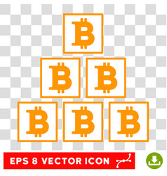 Bitcoin pyramid eps icon vector