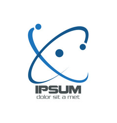 Blue science logo vector