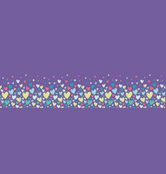 bright colorful hearts purple seamless vector image