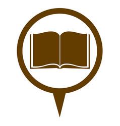 Brown contour with book in circular speech vector