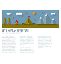 Camping flat design vector image