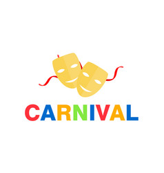Carnival card or banner vector
