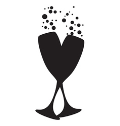 4290eb36852 Champagne Glasses Silhouette Vector Images (over 6,400)