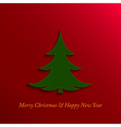 christmas and new year tree vector image