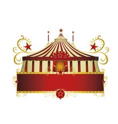 Circus red border frame vector