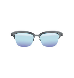classic clubmaster glasses with blue lenses and vector image