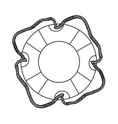 Contour lifebuoy icon image vector