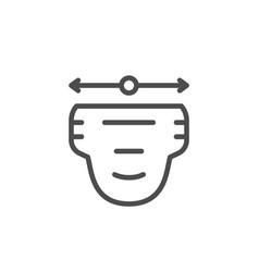 Diaper size line icon vector