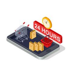 digital marketing online shopping isometric vector image