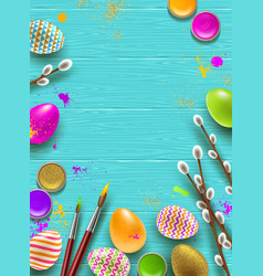 easter background with space for greeting vector image