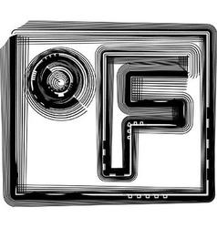 Fahrenheit Striped Symbol vector image