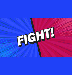 fight background poster comic speech bubble vector image