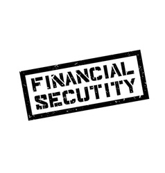 Financial Secutity rubber stamp vector