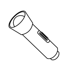 Flashlight bulb object icon vector image