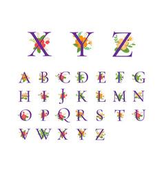 Floral alphabet initial design vector