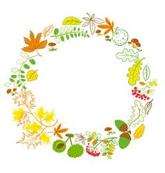 Floral wreath vector