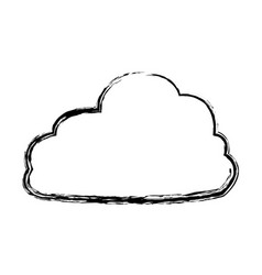 Fluffy cloud weather heaven sky cottony icon vector