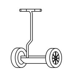 Folding e-scooter isolated icon vector