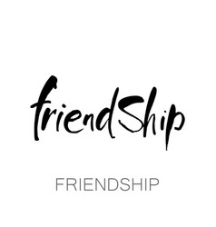 friendship lettering template vector image vector image