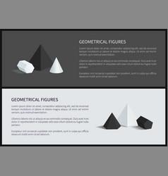 geometrical figures 3d set vector image