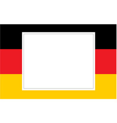 German flag with white paper for text vector