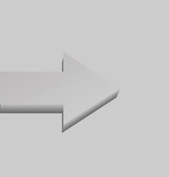 grey single flat-lying arrow vector image