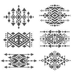 grunge mexican aztec tribal traditional vector image