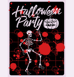 halloween party typography vintage grunge poster vector image