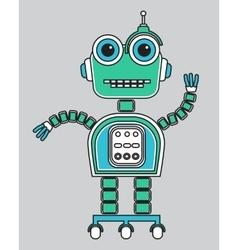 llustration of a vintage robot vector image